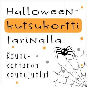 Halloween kutsukortti tarinalla